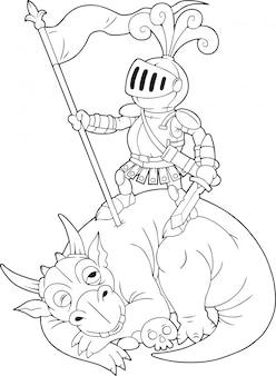 Kreskówka rycerz