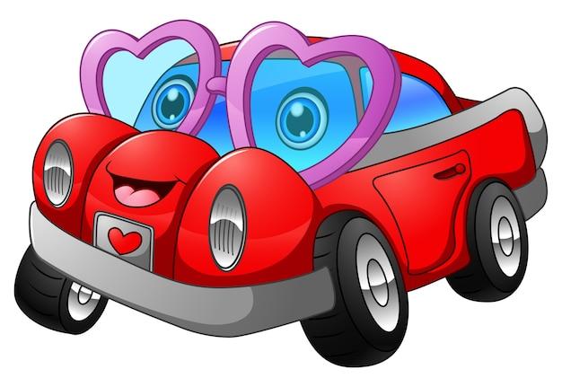 Kreskówka samochód w miłości