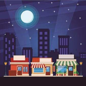 Kreskówka sklepu z zakupami