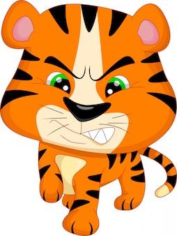 Kreskówka słodkie dziecko tygrysa