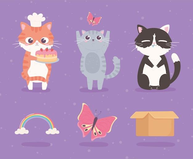 Kreskówka słodkie kotki