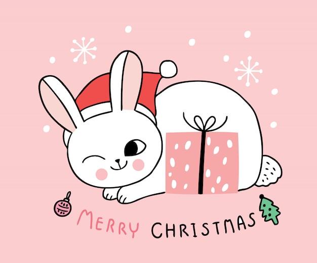 Kreskówka słodkie koty świąteczne i prezenty