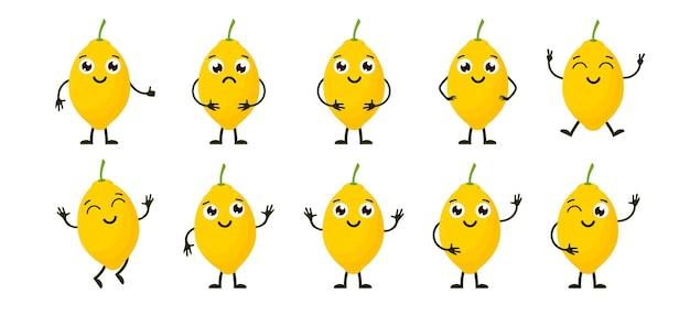Kreskówka śmieszne owoce.