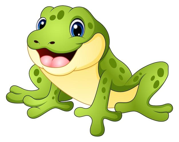 Kreskówka śmieszne żaby