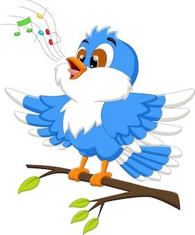 Kreskówka śpiewający ptak