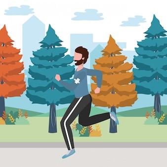 Kreskówka sport pociąg fitness