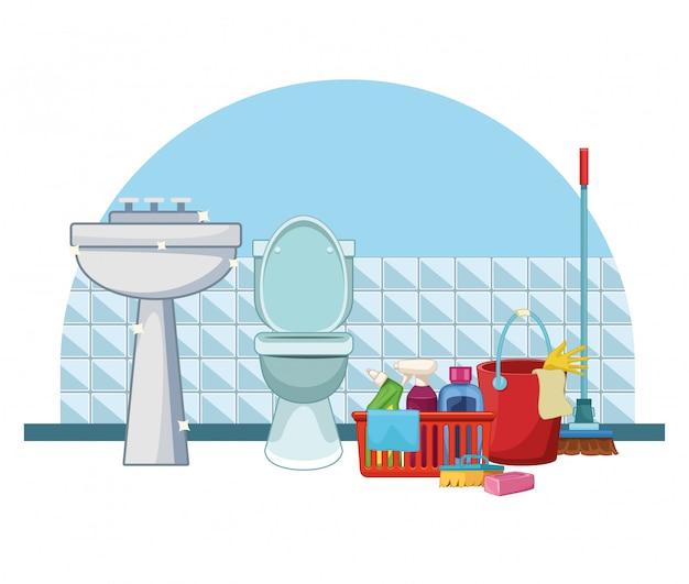 Kreskówka sprzątania