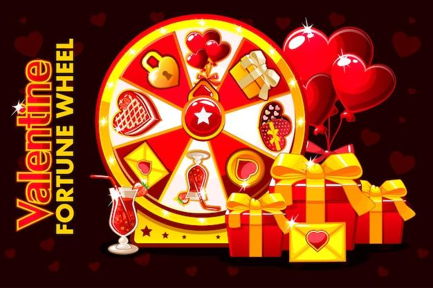 Kreskówka st valentine szczęścia ruletka