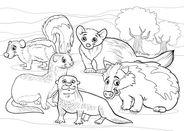 Kreskówka strony zwierzątek