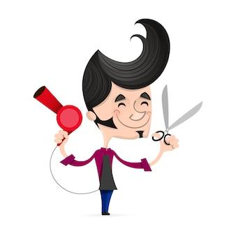 Kreskówka sukces fryzjer