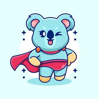 Kreskówka superbohatera koali