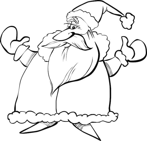 Kreskówka świętego mikołaja dla kolorowanka