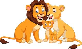 Kreskówka szczęśliwa muzułmańska rodzina
