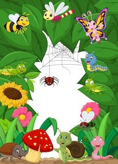 Kreskówka szczęśliwe małe zwierzęta