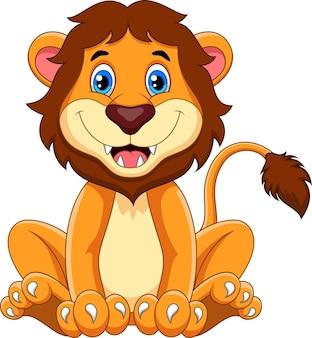 Kreskówka szczęśliwy lew