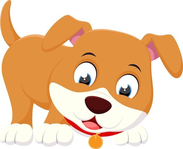Kreskówka szczęśliwy pies gra