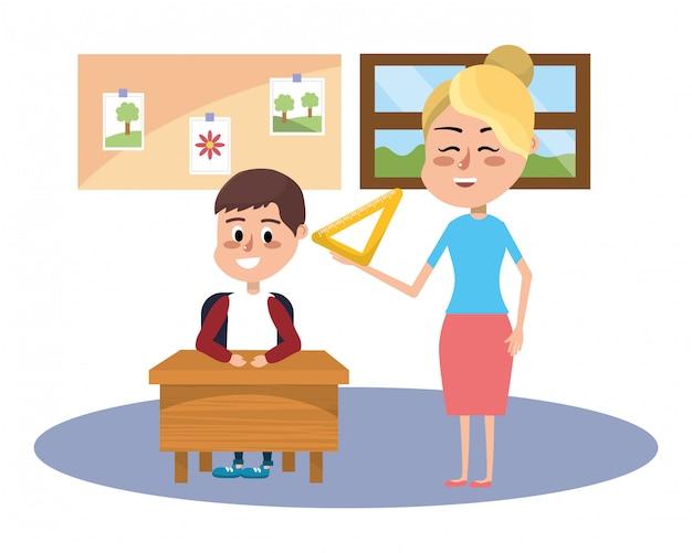 Kreskówka szkoły podstawowej