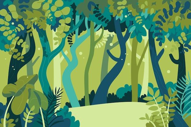 Kreskówka Tło Dżungli Darmowych Wektorów