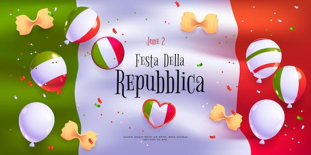 Kreskówka tło festa della repubblica