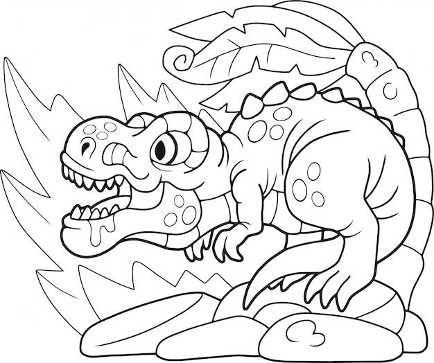 Kreskówka tyranozaura