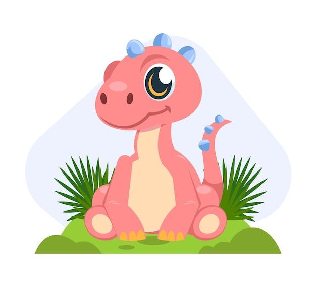 Kreskówka urocze dziecko dinozaura