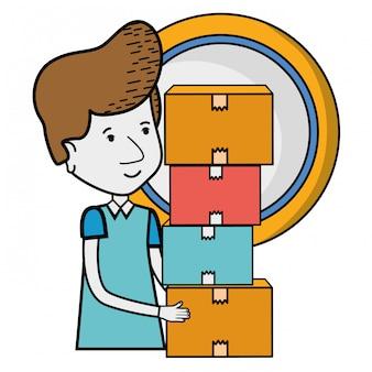 Kreskówka usługi dostawy