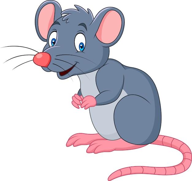 Kreskówka uśmiechnięta mysz