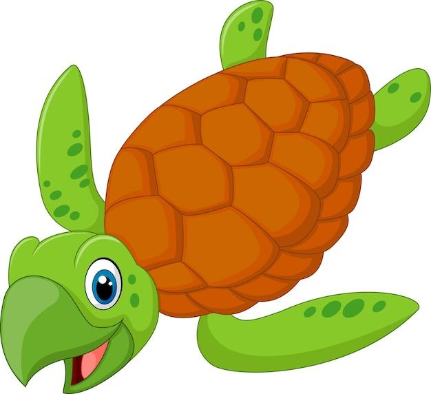 Kreskówka uśmiechnięty żółw