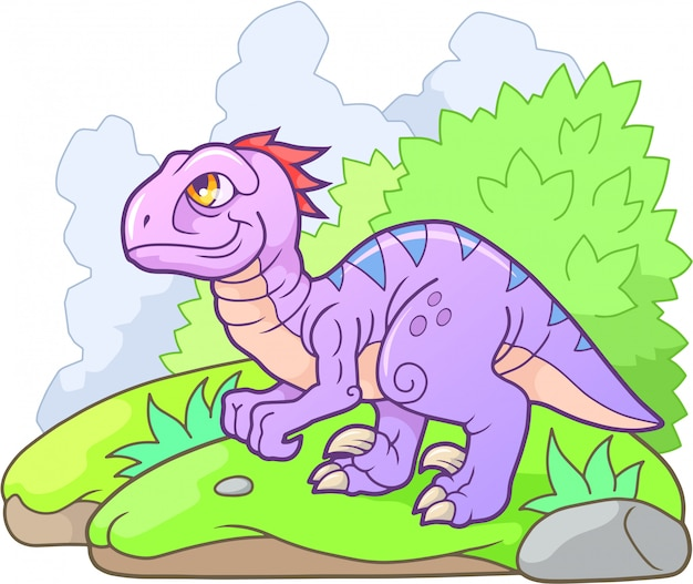 Kreskówka velociraptor