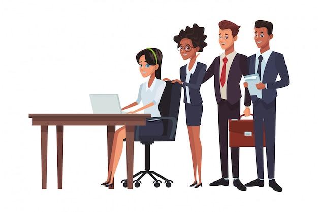 Kreskówka wykonawczy biznes współpracowników