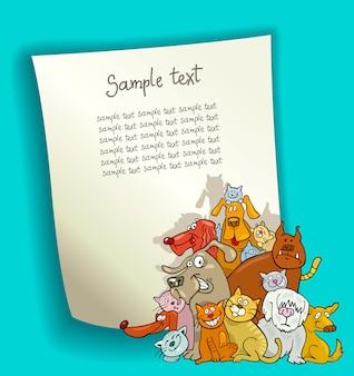 Kreskówka z kotami i psami
