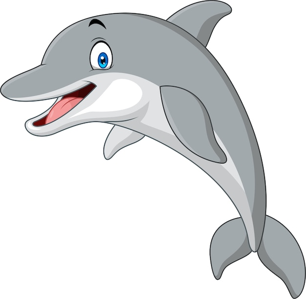 Kreskówka zabawny delfin