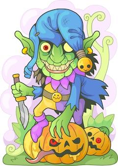 Kreskówka zabawny goblin