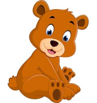 Kreskówka zabawny niedźwiedź