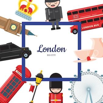 Kreskówka zabytków londynu