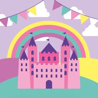 Kreskówka zamek fantasy