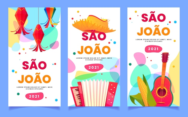 Kreskówka zestaw banerów festa junina