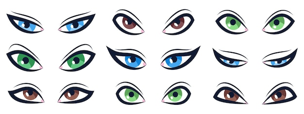 Kreskówka zestaw oczu