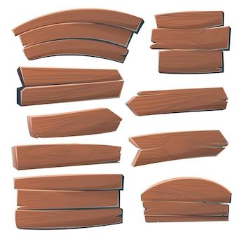 Kreskówka zestaw przycisków drewniane szyld