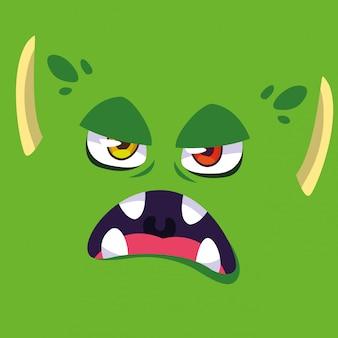 Kreskówka zielony potwór