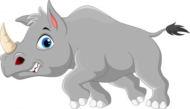 Kreskówka zły nosorożca
