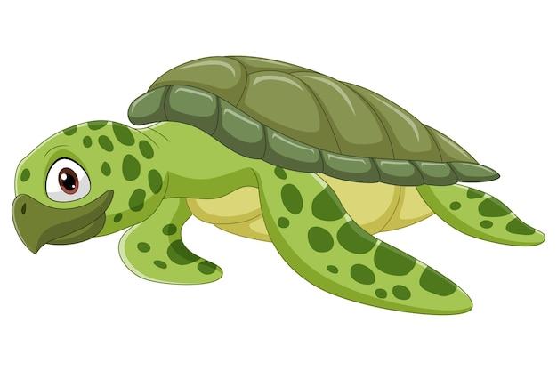 Kreskówka żółw Morski Premium Wektorów