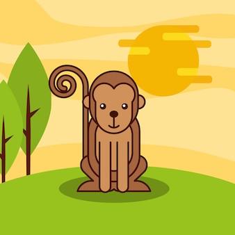 Kreskówka zwierząt z safari