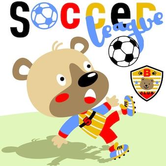 Kreskówka zwierzę piłka nożna