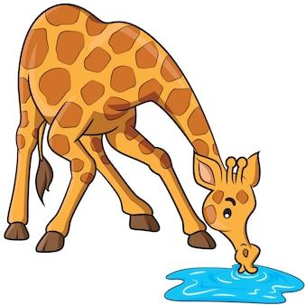 Kreskówka żyrafa