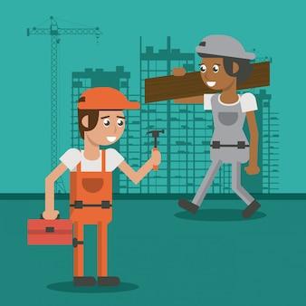 Kreskówki dla robotników budowlanych