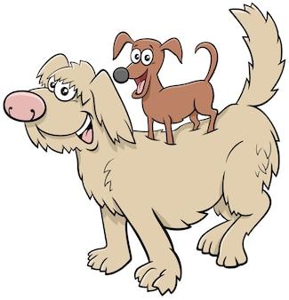 Kreskówki figlarne psy zabawne postacie zwierząt