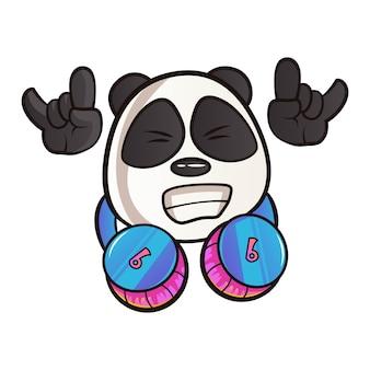 Kreskówki ilustracja panda.