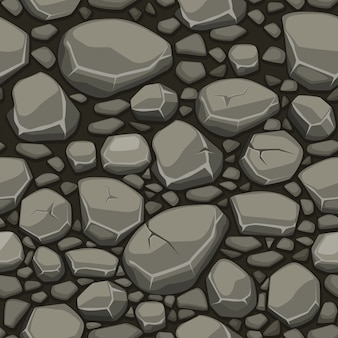 Kreskówki kamienna tekstura w szarych kolorów bezszwowym tle