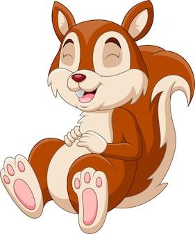 Kreskówki śmieszna wiewiórka sen
